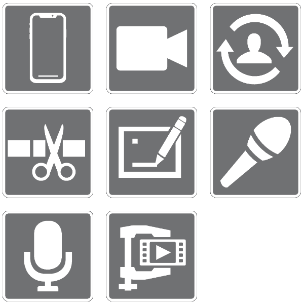 SmartJOURNALIST Features Icons App