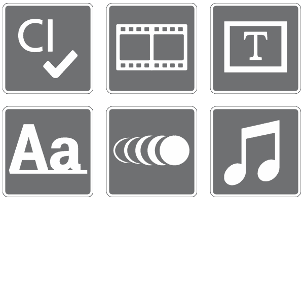 SmartJOURNALIST Features Icons Corporate Design
