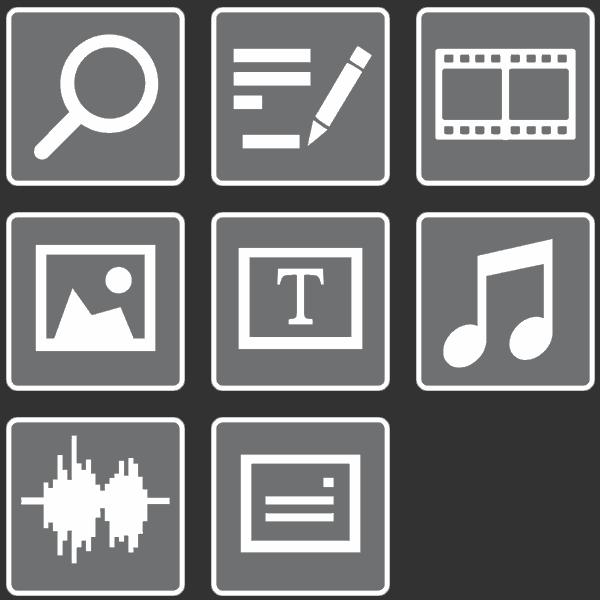 SmartJOURNALIST Features Icons Digital Asset Management