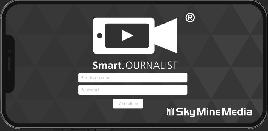 SmartJournalist App Anmelden